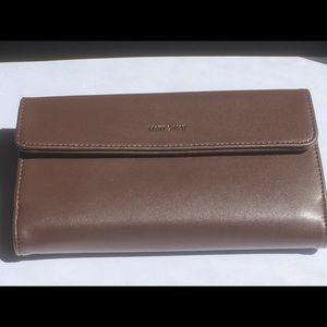 Large Matt & Nat Brown Wallet - Vegan Leather